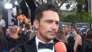 A szexuális zaklatással vádolt James Franco a Golden Globe-on a következőt nyilatkozta