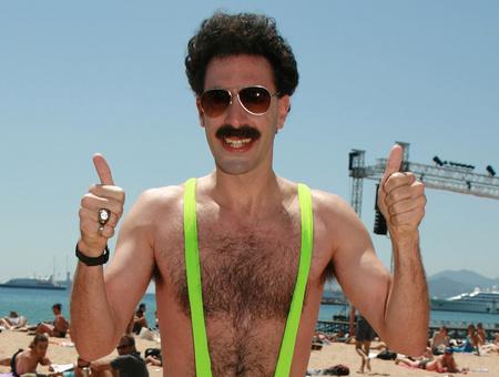 Sacha Baron Cohen Borat-bajusszal