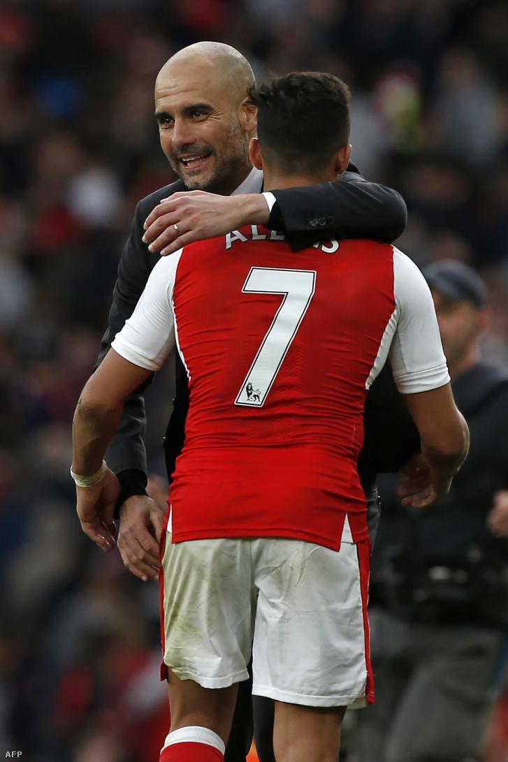 Guardiola és Alexis Sanchez