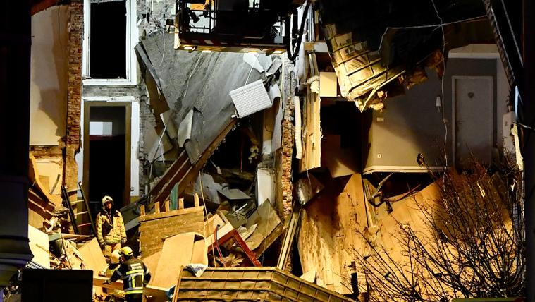 Robbanás miatt összeomlott egy antwerpeni ház