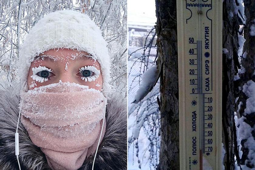 Olyan hideg van, hogy a hőmérő sem bírta: -68 °C-ot mértek Szibériában