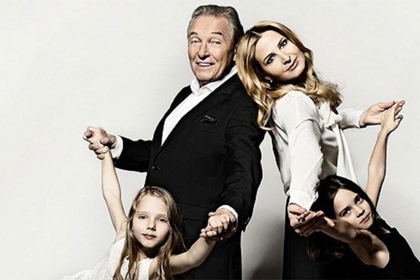 Karel Gott büszke gyönyörű családjára