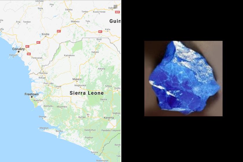 Annyira kék, hogy a kutatók sem tudnak vele mit kezdeni: idegen anyag a 12 ezer éves kődarabban