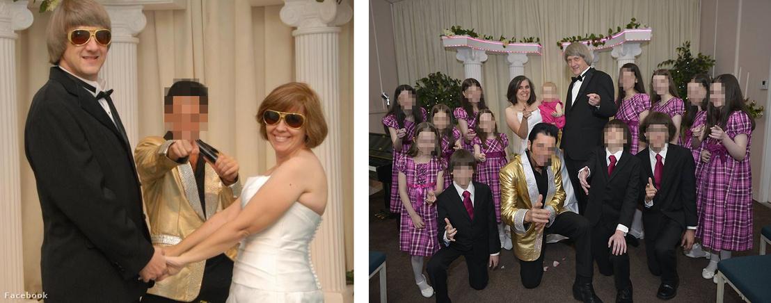 Képek az esküvőről a szülők Facebook oldaláról
