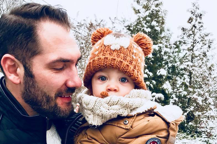Jól megnőtt Liptai Claudia kisfia - Cuki, havas fotó Marciról