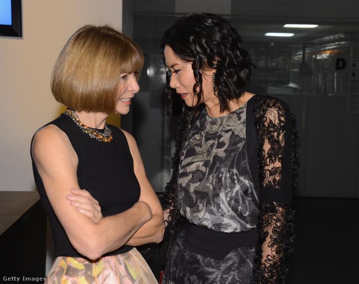 Anna Wintour és Wendi 2012-ben New Yorkban