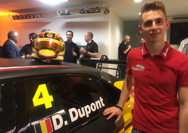 Denis Dupont a 2018-as autójával