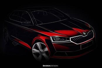 Vázlaton a következő Škoda Fabia