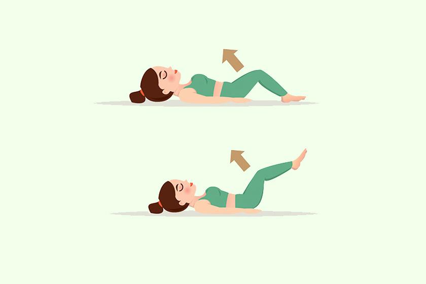 Feküdj hanyatt, tedd a kezdet lefordítva a törzsed mellé, majd emeld fel a lábaidat összezárva. Ezután engedd őket vissza. Nehezíthetsz a gyakorlaton, ha sosem teszed le a lábaidat egészen.