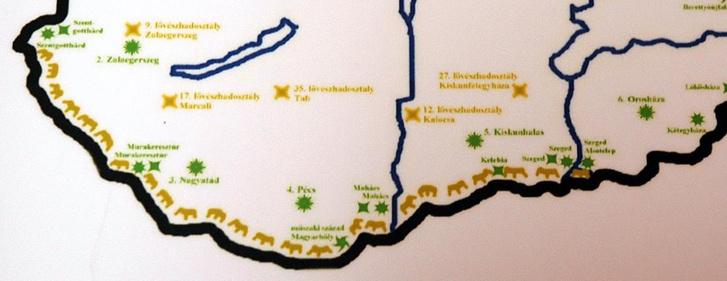 A déli határsáv védelme az ötvenes években