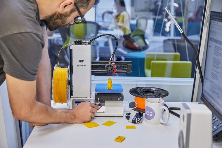 Naná, hogy 3D nyomtatni is lehet egy ilyen helyen.