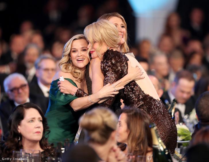 A Hatalmas kis hazugságok női főszereplői: Reese Witherspoon, Nicole Kidman és Laura Dern