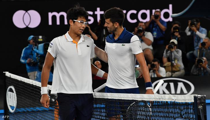 Chung és Djokovics a meccs végén