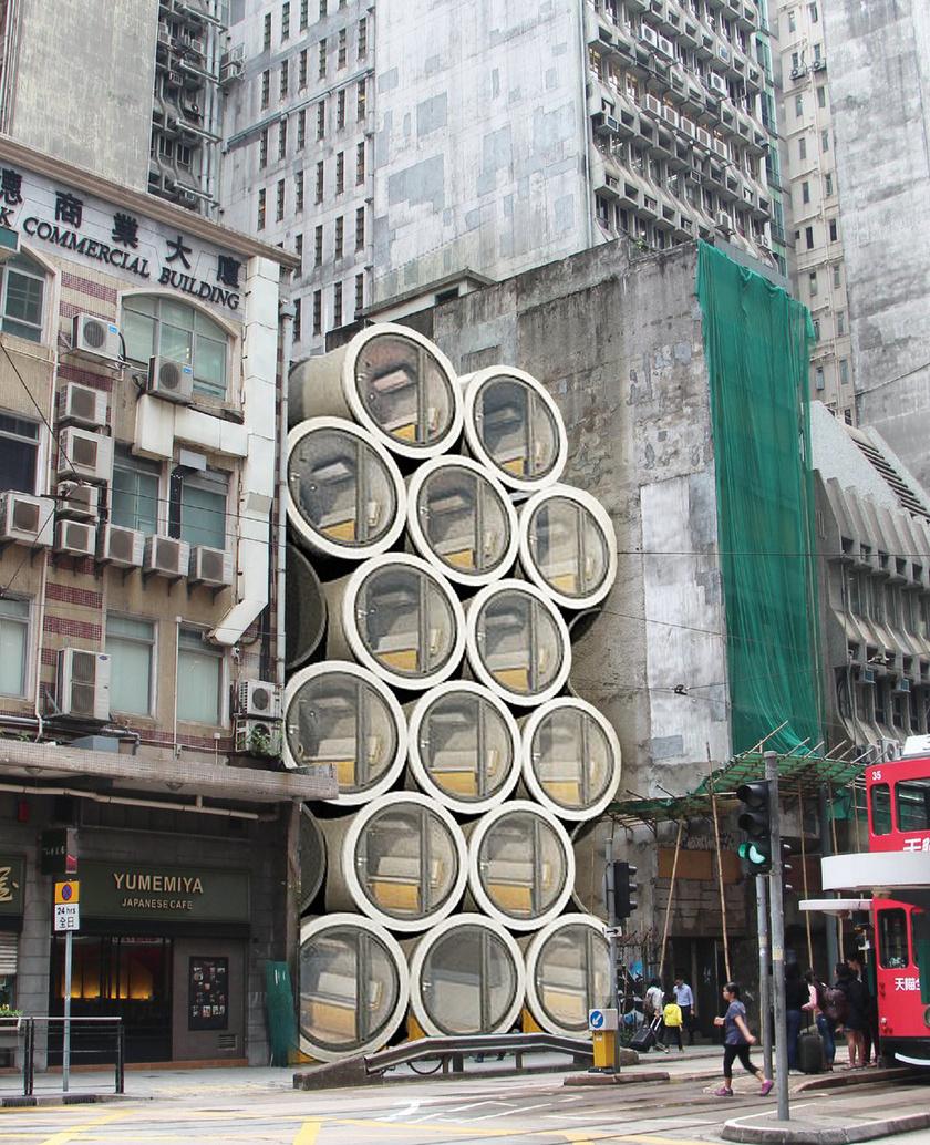 A betonhengerekből álló társasház messziről megdöbbentő látvány, pedig a kereslet már most óriási rá.