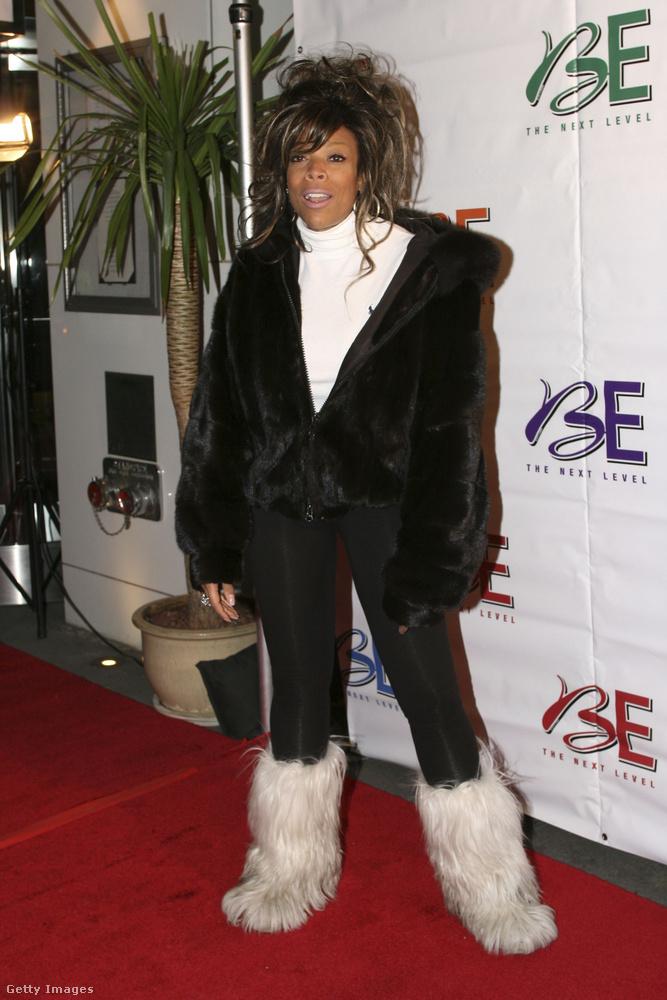 Jeti csizma és leggings Wendy Williamsen 2006-ban.
