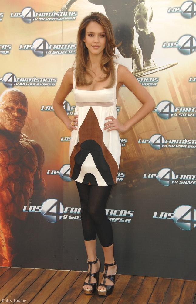 Jessica Alba is cicanaciban járt filmpremierekre 2007-ben.