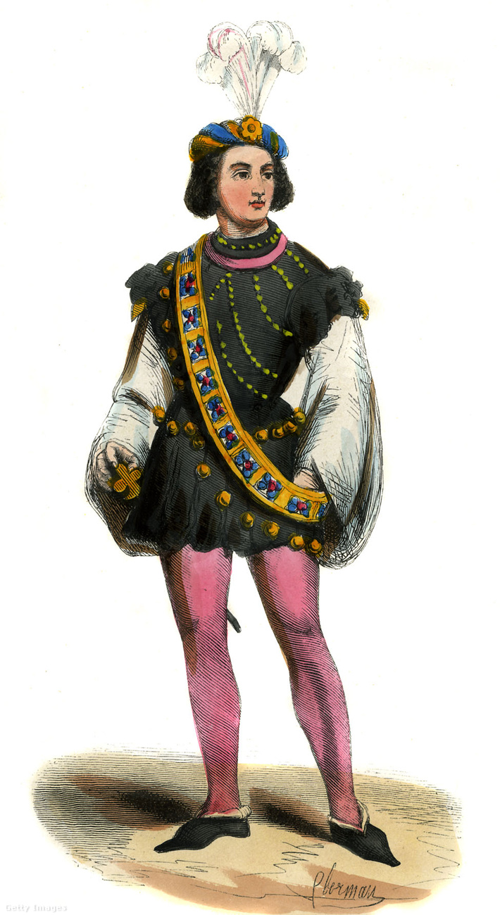 A középkorban inkább a férfiak hordtak pink cicanacit és hegyesorrú cipőt.