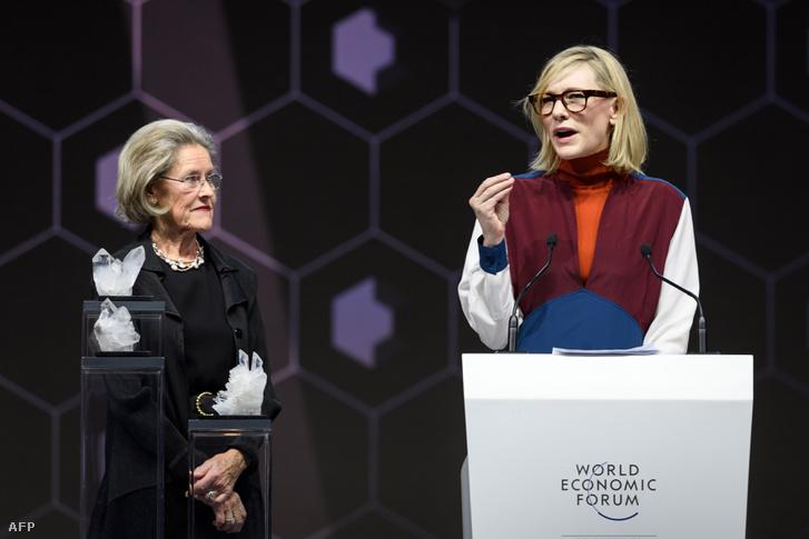 Cate Blanchett Davosban