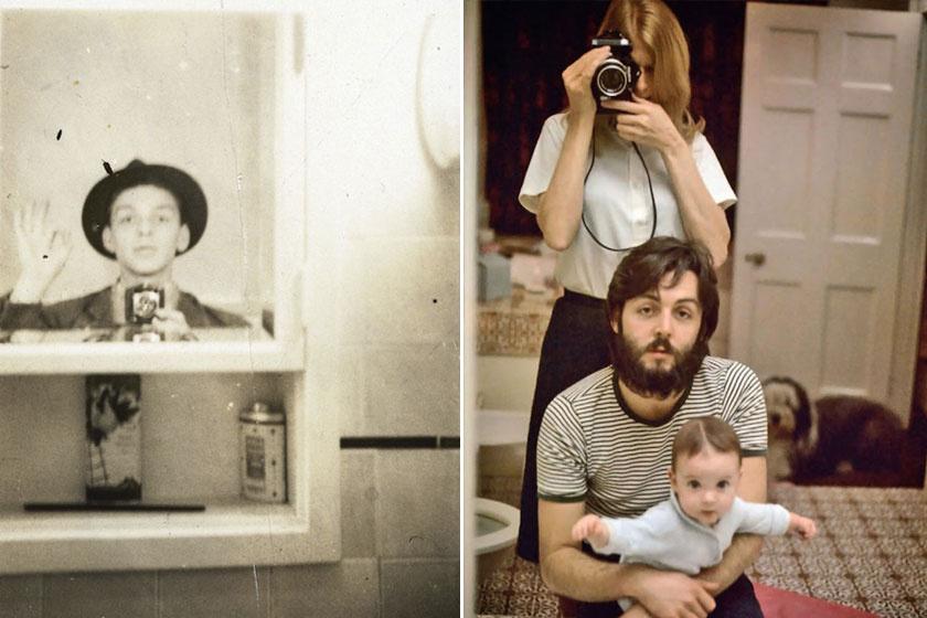 Az első képen Frank Sinatra 1930-ban, a másodikon Linda és Paul McCartney lányukkal, Mary McCartney-val - a kép 1969-ban készült.