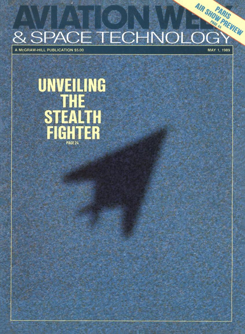 1989. május 1. Az Aviation Week címlapon hozta az F-117 létezésének hírét.