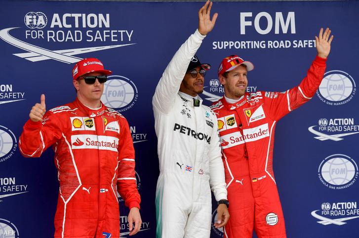 Räikkönen, Hamilton, Vettel - jól járnak