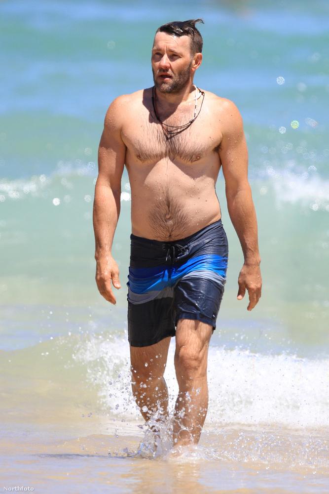 Joel Edgerton környékén, a Bondi Beachen viszont derűs idő volt.