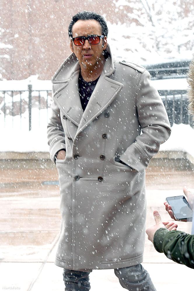 Időjárás jelentés némi celebhírmondóval kombinálva:Nicolas Cage hóviharba keveredett Park City területén.