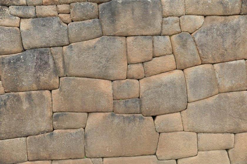 A jellegzetes inka építéstechnológiával készült fal.
