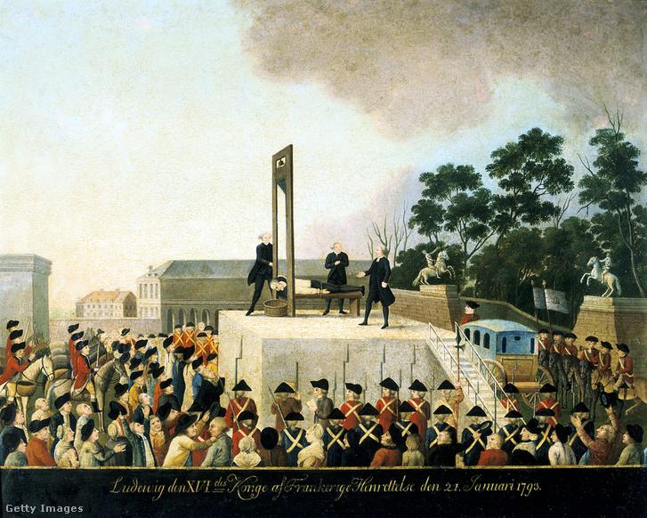 XVI. Lajos kivégzése 1793. január 21-én