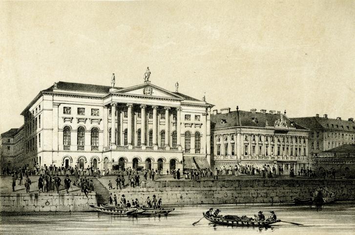 Az 1849-ben porig lőtt Redoute, a Vigadó elődje