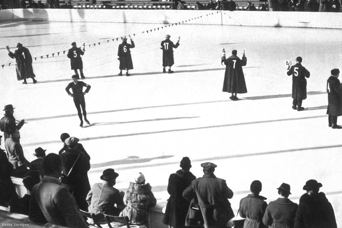 Pontozóbírók az 1936-is téli olimpián