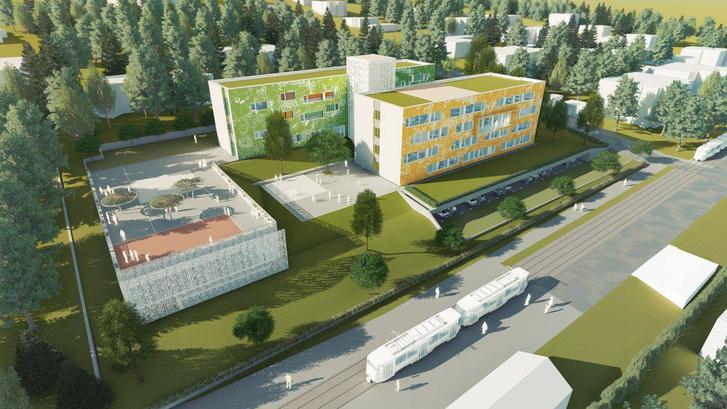 Az új iskola látványterve