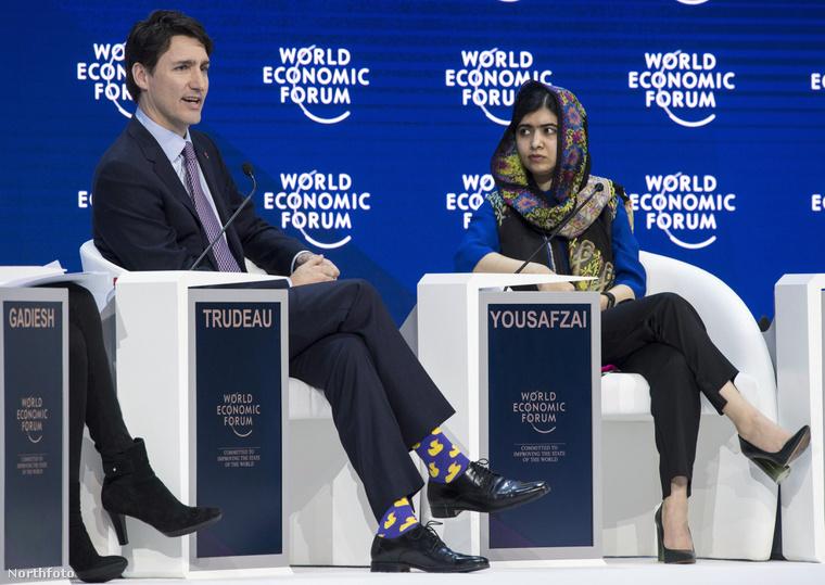 És térjünk vissza ehhez a héthez, illetve a davosi világgazdasági fórumhoz. Ez a fotó egy csütörtöki ülésen készült.