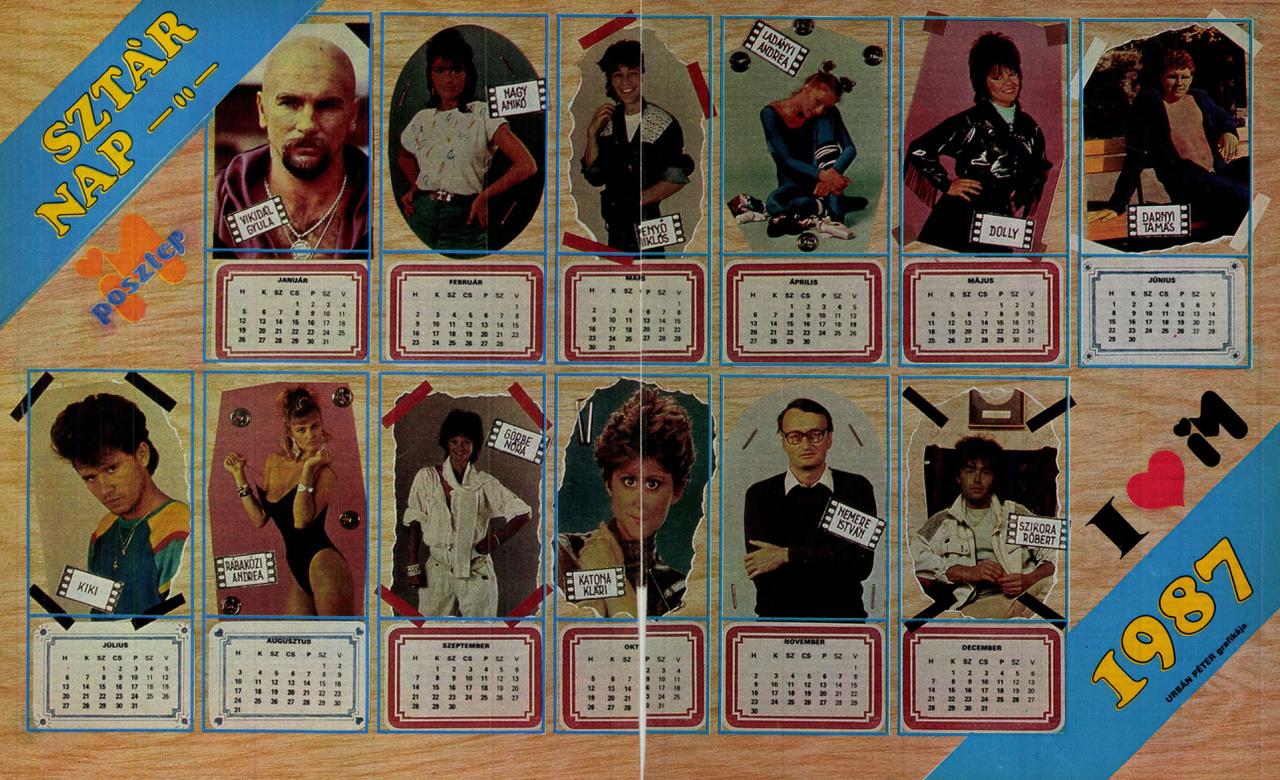 A Sex & Drugs & Rock'n'roll jegyében három részben mutatunk be válogatást az IM számaiből. A zenével kezdjük: poszterek, falinaptárak, riportok a szocialista popipar termékeitől a fekete bárányokig. Itt: 1987-es SZTÁRNAPTÁR Lindával, Aranypók fehérnemű-modellel, Koppánnyal, az IM-be is rendszeresen író Nemerével és a többiekkel.