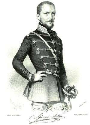 Görgei Artúr Barabás Miklós litográfiáján 1848-ban