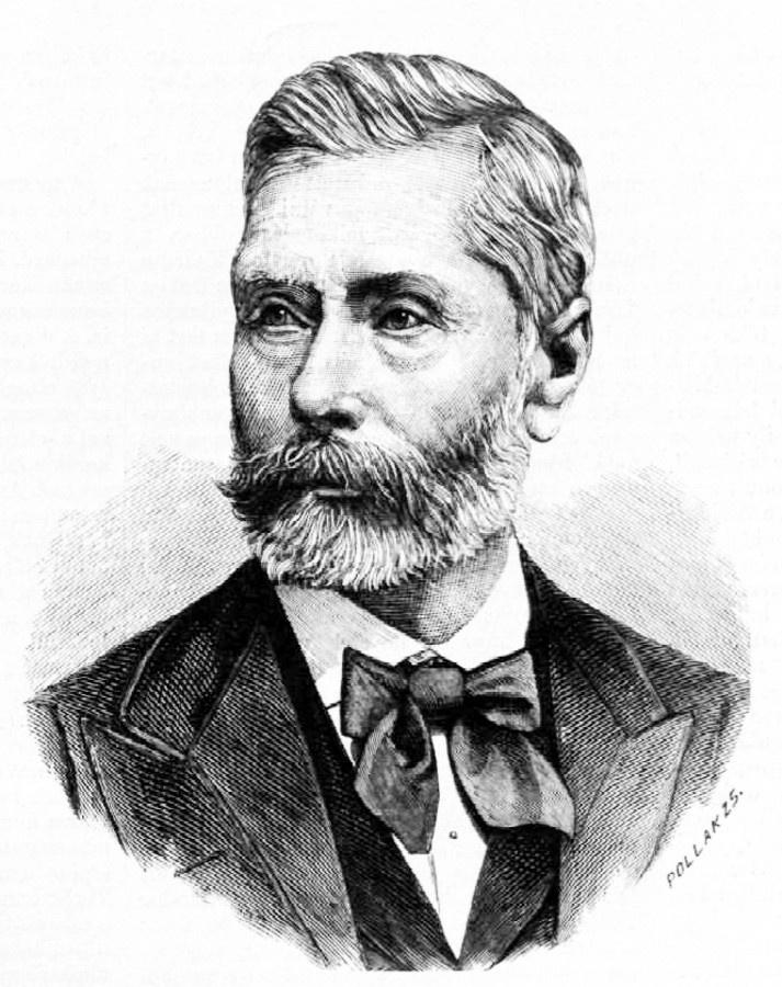 Markusovszky Lajos (1815-1893) orvos, a magyar egészségügyi oktatás egyik megteremtője Pollák Zsigmond metszetén. Ma többek között a szombathelyi kórház viseli nevét.