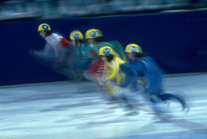Rövidpályás gyorkorcsolya verseny az 1988-as téli olimpián