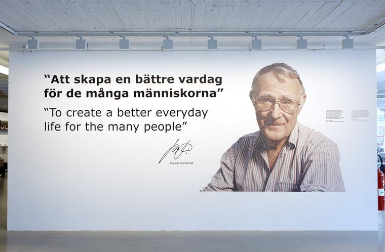 Ingvar Kamprad alapította az IKEA bútoráruház-láncot