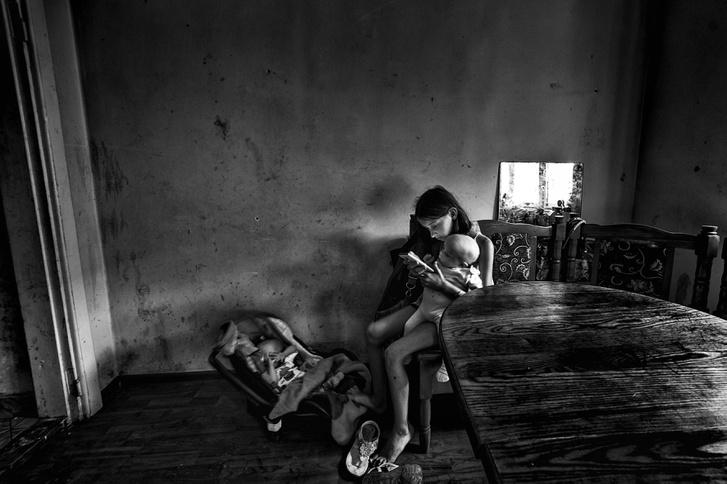 Társadalomábrázolás, dokumentarista fotográfia (egyedi), 1. díj: Csend