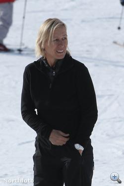 Martina Navratilova a sípályán