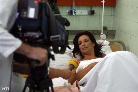 Kármán Irén a Szent János Kórházban 2007-ben. (Fotó: Szigetváry Zsolt)