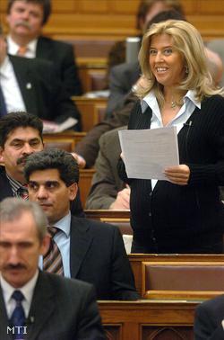 Selmeczi Gabriella egy 2005-ös plenáris ülésen