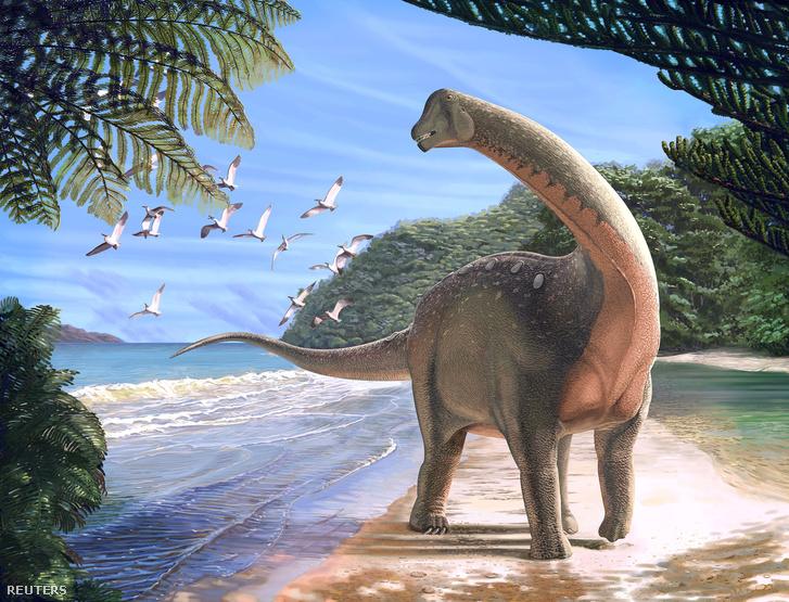 A Mansourasaurus shahinae egy rajzon
