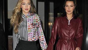 Bella és Gigi Hadid együtt meztelenkedtek egy jót