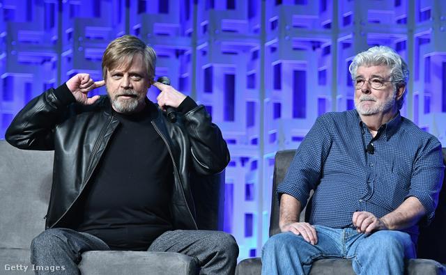 Mark Hamill és George Lucas 2017-ben