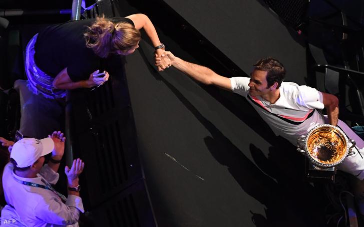Mirka és Roger Federer az AusOpen-győzelem után a hétvégén