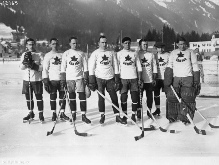 A kanadai hokicsapat, a Toronto Granties a téli olimpián 1924-ben