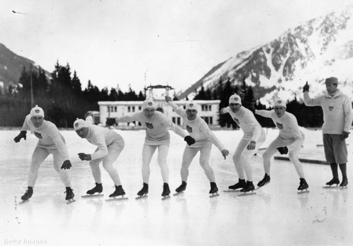 Az amerikai korcsolyázók Chamonix-ban