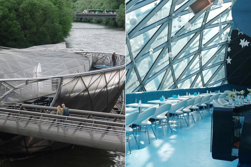 Az osztrák Graz legkülönlegesebb helye a Murinsel híd, ami igazából nemcsak átkelésre szolgál. Van benne étterem, kávézó és egy nyitott amfiteátrum is. Közkedvelt pont a városban.