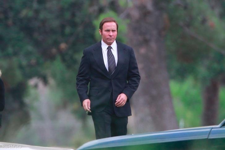 Christian Bale a Backseat forgatásán.